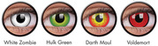 Best Range of Halloween Contact Lenses Quality Marked at Colourvue