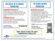HP servers V2 and HP Tower server on promotion