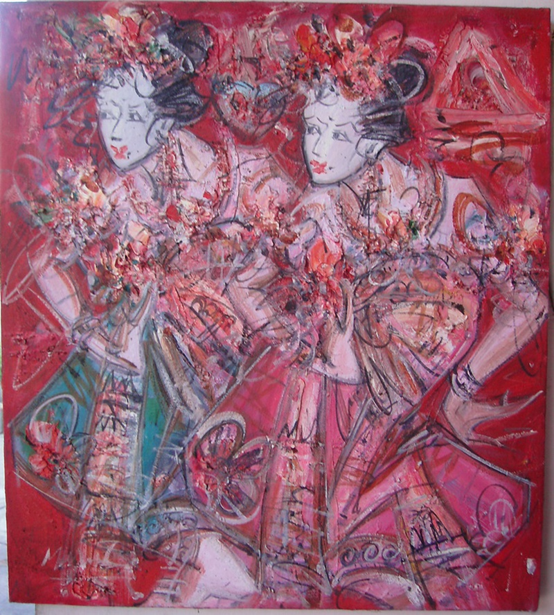 Cheap indonesian oil painting art art painting for sale for Cheap canvas paintings for sale