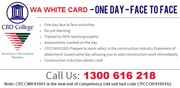 Western Australia Cert IV White Card Course $99 Only