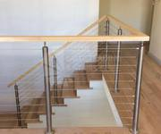 Semi frameless glass for stairs