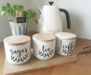 Magnolia Leaf Tea,  Coffee Sugar Labels
