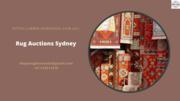 Rug Auctions Sydney